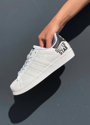Кроссовки adidas superstar белые рефлективные