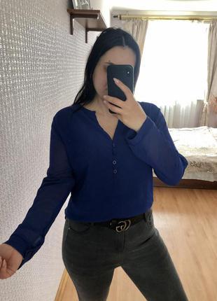Синяя блузка блуза рубашка
