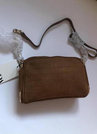 Замшевая сумка zara