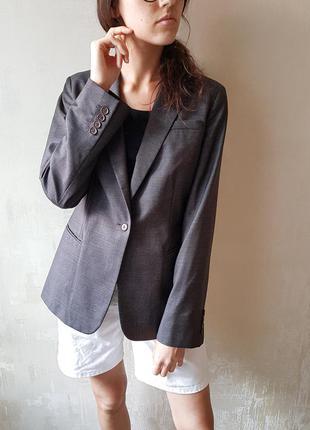 Пиджак базовый темно-серый calvin klein жакет базовий діловий стиль офіс школа