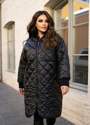 Стеганое пальто куртка