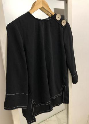 Актуальная блуза с пуговицами zara