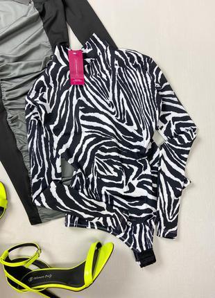 Боди гольф принт зебра