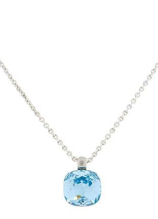 Подвеска колье цепочку камень lola & grace with swarovski crystal