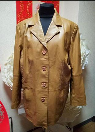 Натуральный кожанный жакет куртка