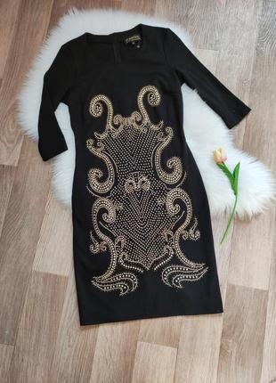 Женское нарядное стрейчевое платье футляр миди деловое деми