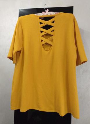 Плотная футболка с красивой спинкой большой размер
