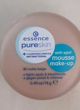 Тональный мусс с лечебным комплексом для проблемной кожи essence, тональный крем, тональная основа