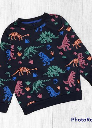 F&f свитшот тёплый толстовка на байке для мальчика динозавры