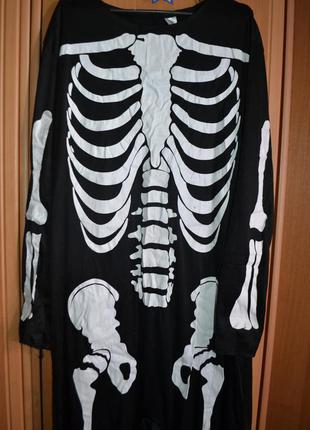 Мужской карнавальный костюм на хэллоуин, хеловин, хеллоуин, скелет м-l