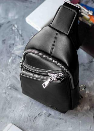 Мужская сумка слинг через плечо polo pand / бананка /  нагрудная сумка / одно лямочная сумка