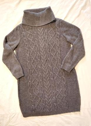 Теплое платье 12% альпака (шерсть)!