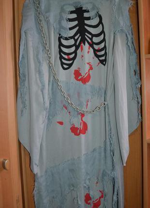 Мужской карнавальный костюм на хэллоуин, хеловин, хеллоуин, призрак, привидение
