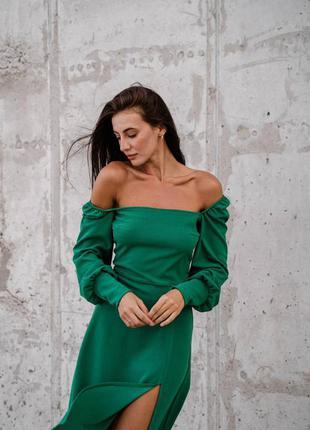 Платье спущенные плечики