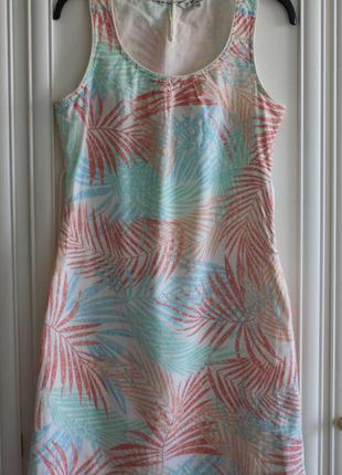Сарафан, платье пляжное, летнее, тропический принт хлопок