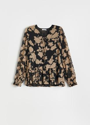 Узорчатая блузка reserved