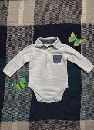 Детская рубашка - боди 3-6 мес для мальчика в идеальном состоянии