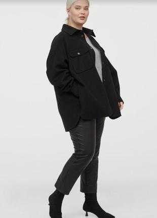 Пальто рубашка h&m +xxl