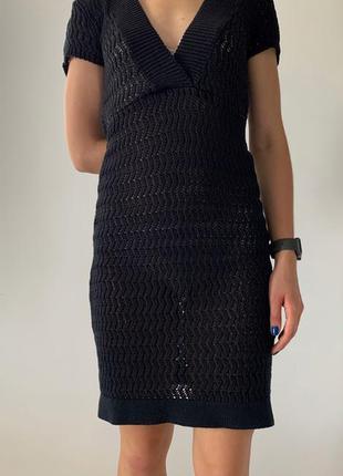 Платье, nadine, черное платье, платье сетка, платье сеткой, вязаное платье.