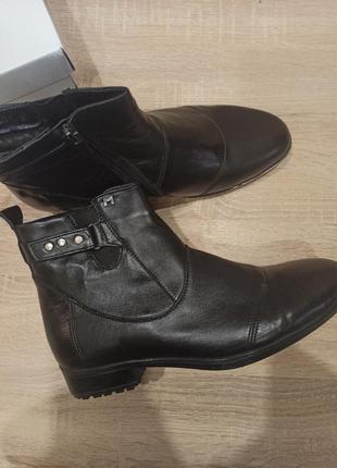 Натуральная кожа ботинки зимние