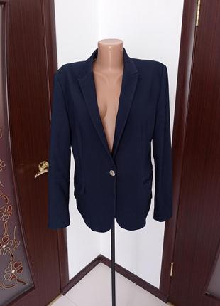 Базовый синий пиджак от zara 12-14рр