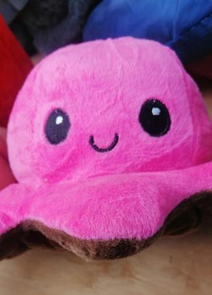 Мягкая игрушка-перевертыш двухцветная осьминог
