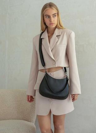 Жіноча сумка через плече (чорна). женская сумка