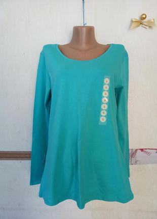 Базовый лонгслив футболка с длинным рукавом