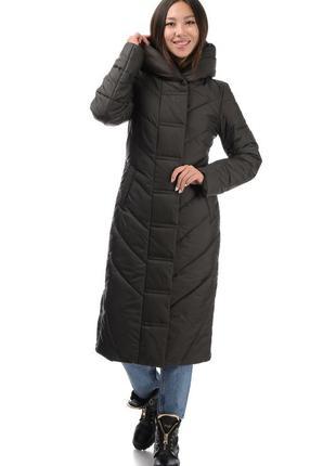 Пуховик, женское зимнее пальто - одеяло «арт стайл» размеры: 42 - 52