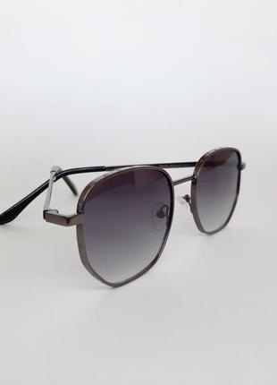 Солнцезащитные очки квадратные темная сталь