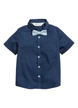 Рубашка с бабочкой h&m 122р