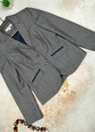 Пиджак жакет шикарный шерстяной на подкладке 98% шерсть!!! boden uk 12/40/m
