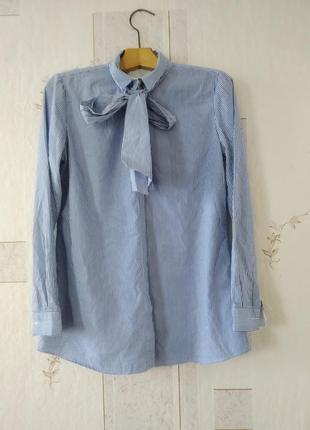 Базовая рубашка в полоску с галстуком uterque
