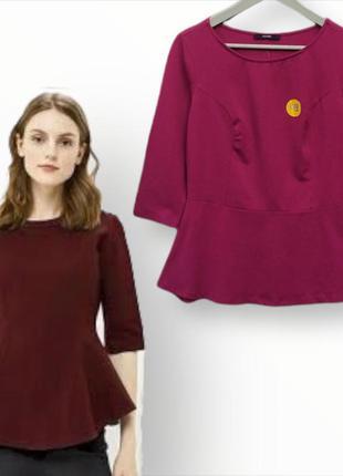 Блузка,кофточка с баской из натуральной ткани george
