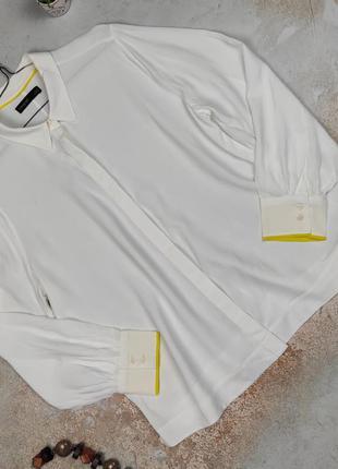 Блуза рубашка белая натуральная шикарная marks&spencer uk 16/44/xl