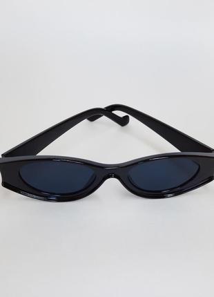 Солнцезащитные очки ретро, овальные cat eyes
