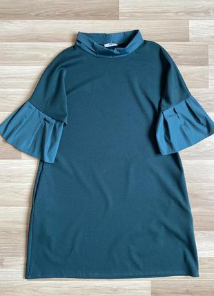 Платье трапеция с карманами большой размер plus size