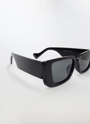 Солнцезащитные очки ретро, прямоугольные cat eyes