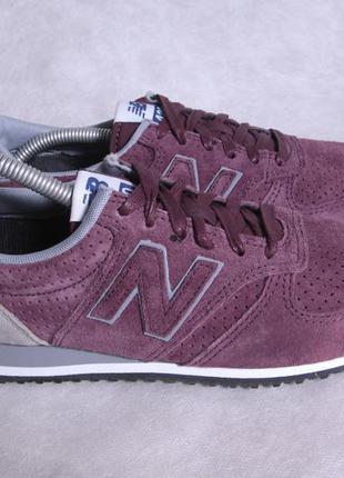 Замшевые кроссовки new balance nb 420 38 размер, бордовые
