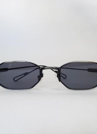 Солнцезащитные очки ретро, прямоугольные в металлической оправе