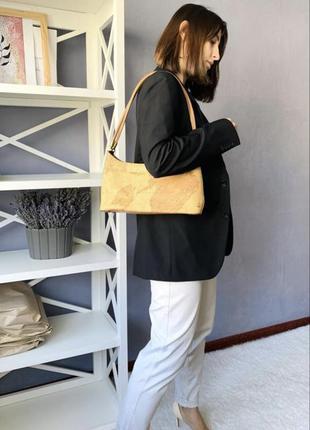 Эксклюзивная сумка багет из натуральной кожи
