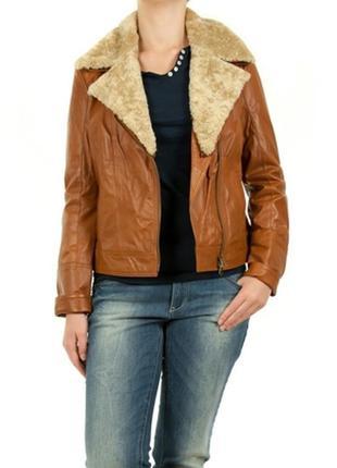 Кожаная куртка / косуха / куртка-косуха esprit