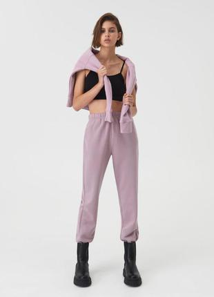 Спортивные штаны фиолетовые лиловые
