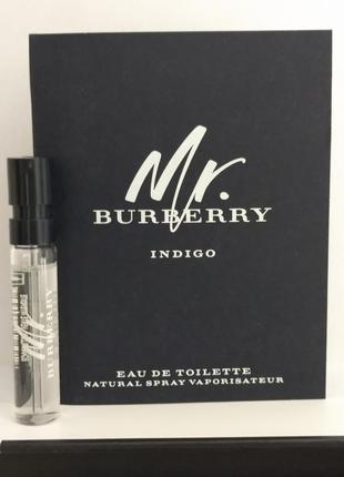 Burberry mr.burberry для мужчин eau de toilette пробник 2ml