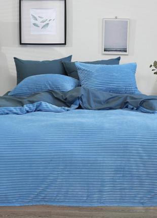 Комплект постельного белья зима-лето хлопок и велсофт 4 сезона