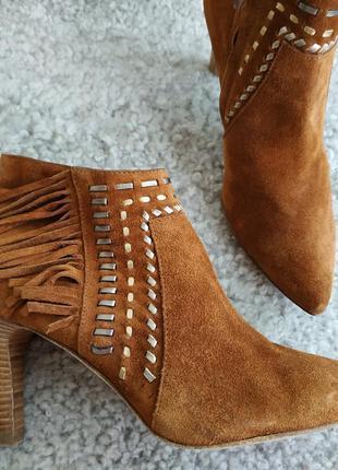 Кожаные женские фирменные ботиночки от puritano 37 р кожа везде - оригинал