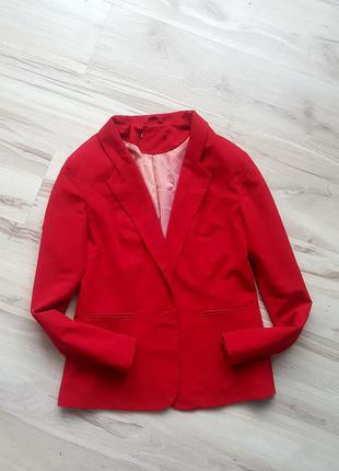 Пиджак zara,жакет красный zara