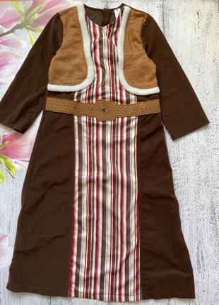 Крутой карнавальный костюм платье новогодний моана tu 7-8лет