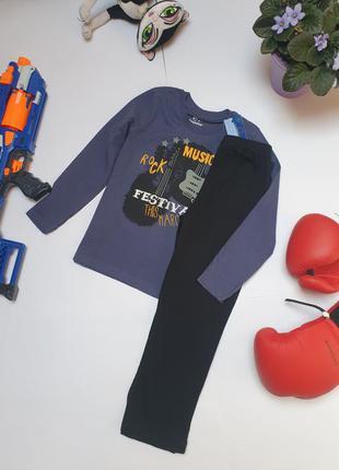 Бавовняна піжама на хлопчика фірми lupilu 4-6 років