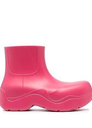 Резиновые ботинки/сапоги/сапожки/женские/фуксия/малиновые/galosha
